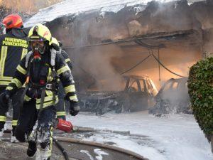Garagenbrand in Gablitz